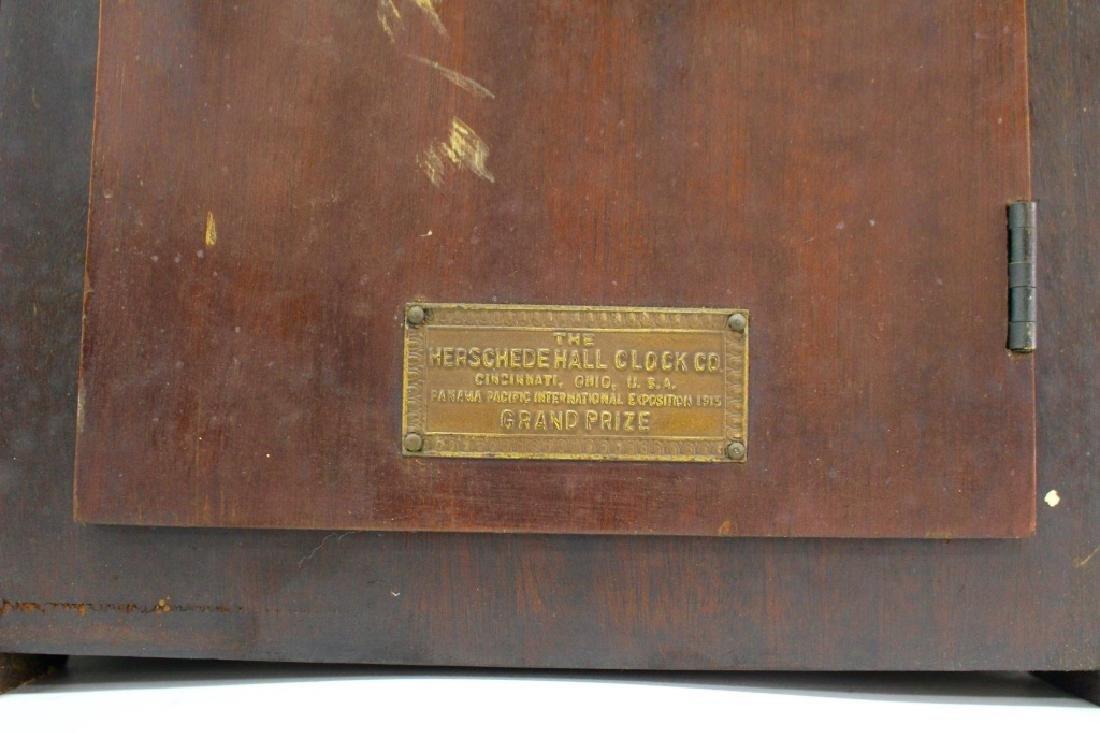 HERSCHEDE 'MODEL 20' MAHOGANY CASE MANTEL CLOCK - 5