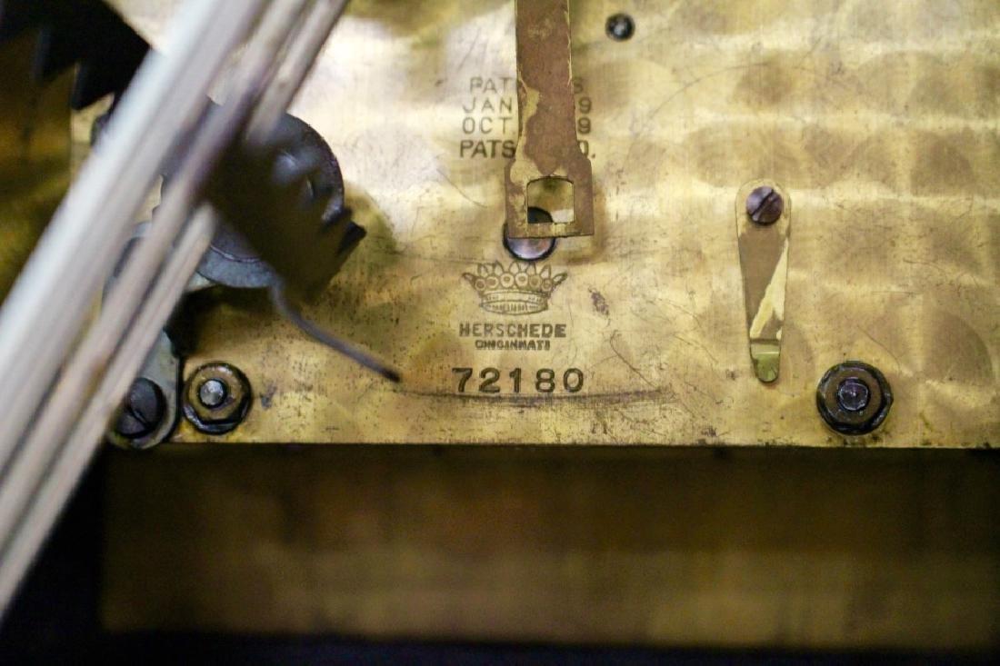 HERSCHEDE 'MODEL 20' MAHOGANY CASE MANTEL CLOCK - 6