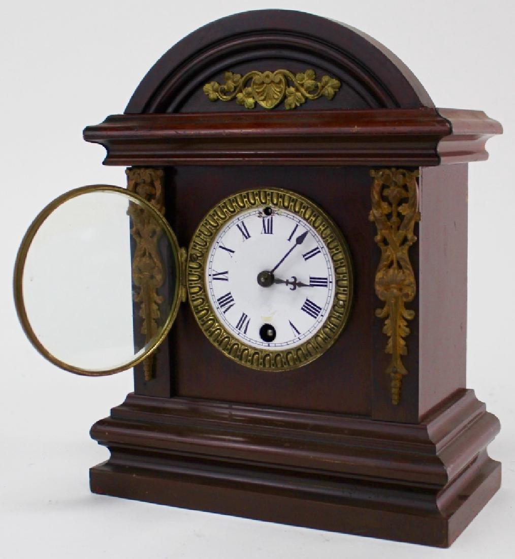 ANTIQUE ANSONIA WALNUT CASE SHELF CLOCK - 2