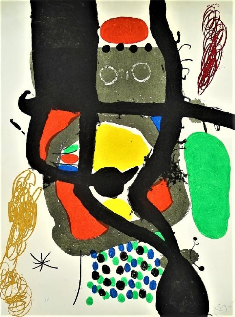 JOAN MIRO 'LE CASSIER' AQUATINT ETCHING SIGNED