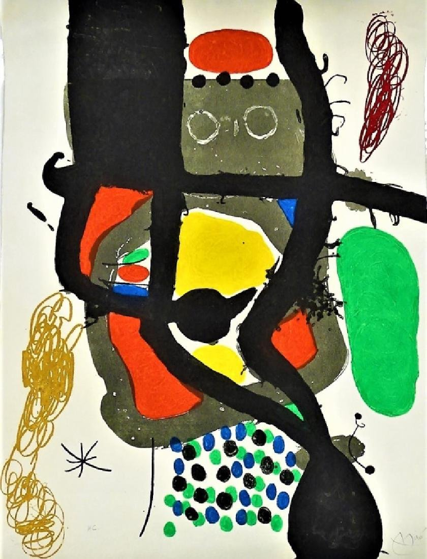 JOAN MIRO 'LE CASSIER' AQUATINT ETCHING SIGNED - 2