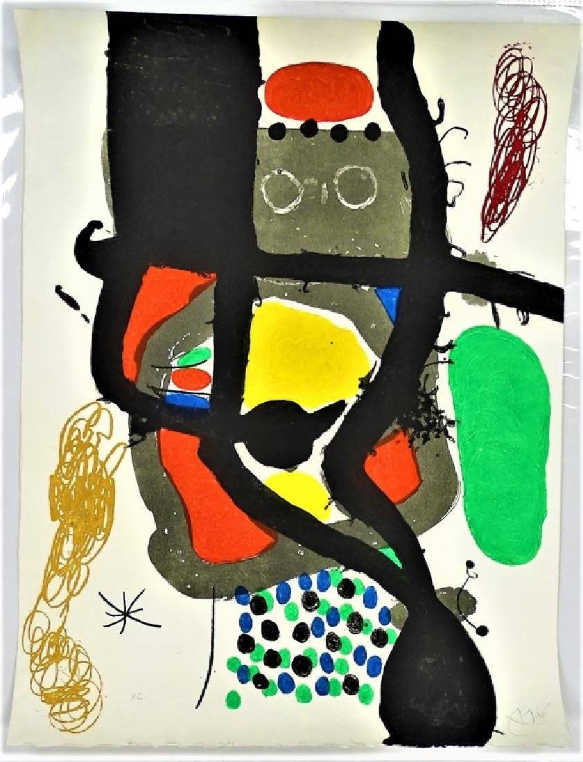 JOAN MIRO 'LE CASSIER' AQUATINT ETCHING SIGNED - 3