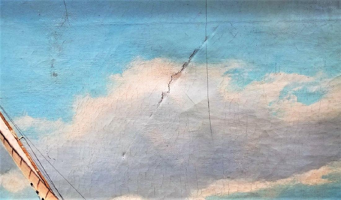 M.G. FRIEDRICH ORIGINAL NAUTICAL OIL ON CANVAS - 3