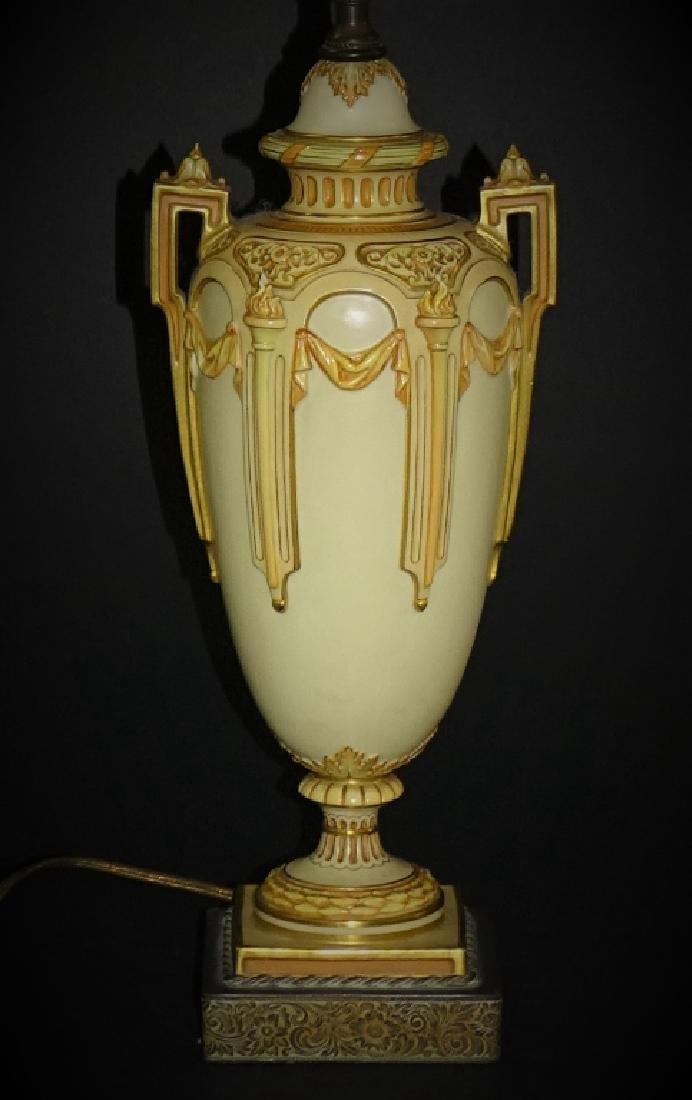 ANTIQUE ROYAL WORCESTER PORCELAIN LAMP - 2