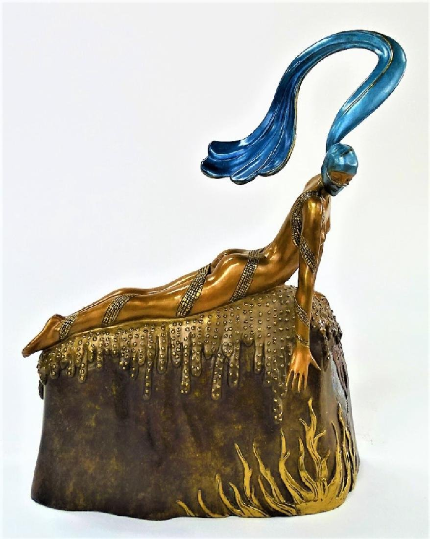 ERTE BRONZE SCULPTURE - FRENCH ROOSTER 306/375