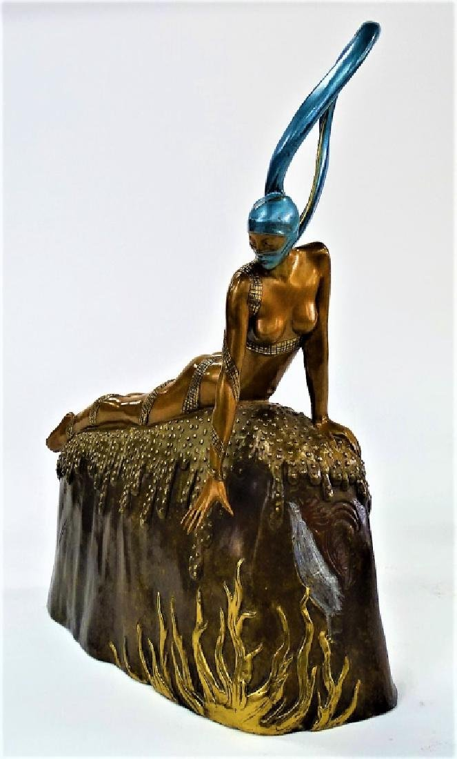ERTE BRONZE SCULPTURE - FRENCH ROOSTER 306/375 - 2