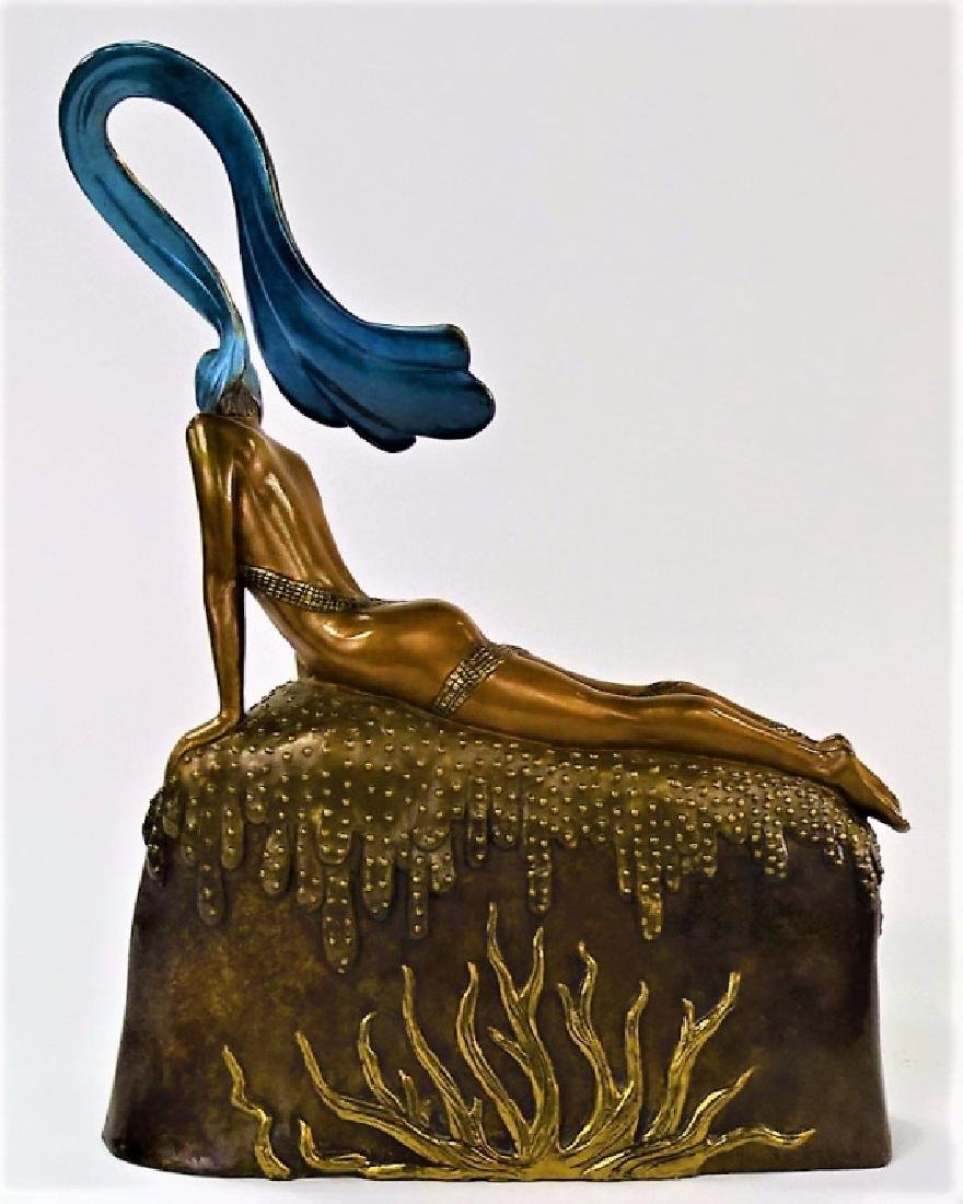 ERTE BRONZE SCULPTURE - FRENCH ROOSTER 306/375 - 3