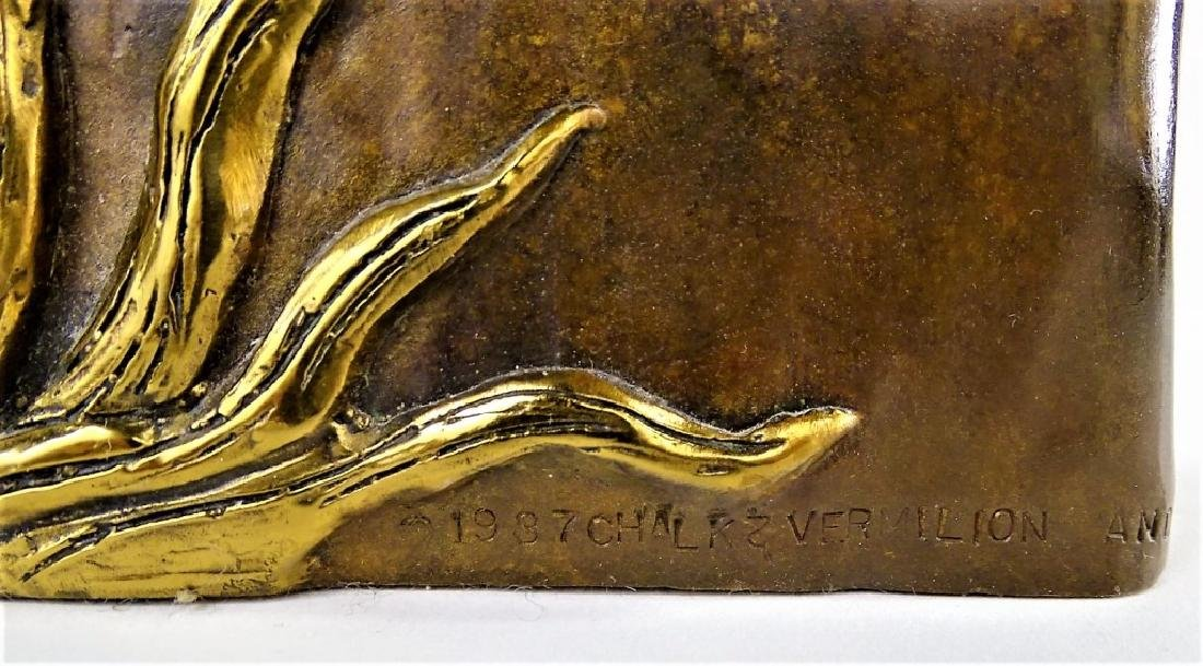 ERTE BRONZE SCULPTURE - FRENCH ROOSTER 306/375 - 4