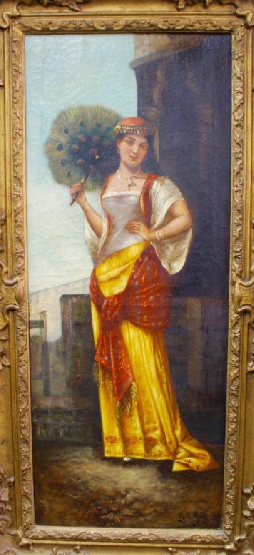 EARLY 19TH C. OIL/CANVAS PORTRAIT PAINTING SIGNED