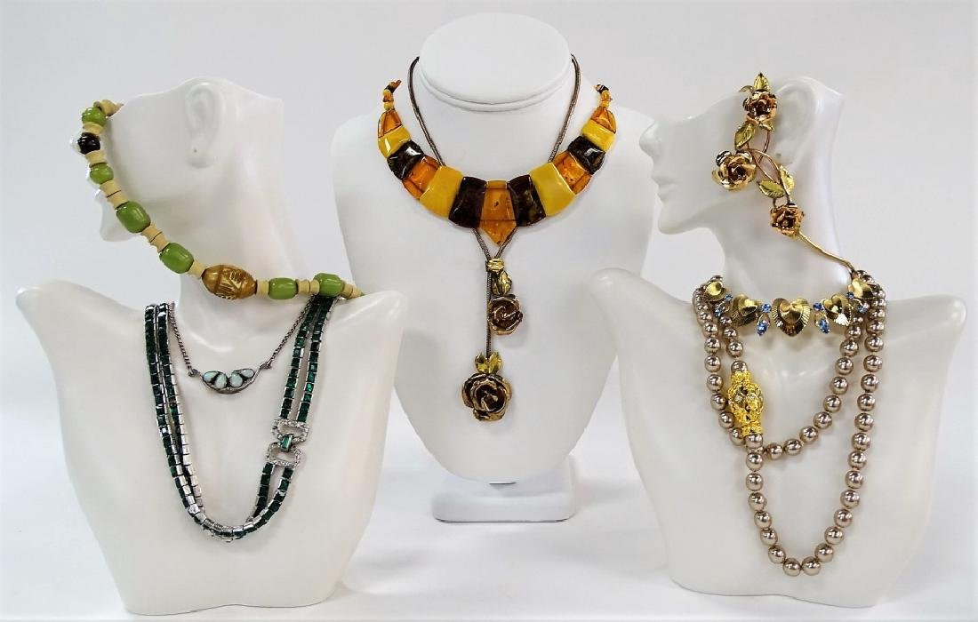 LARGE LOT OF COSTUME NECKLACES