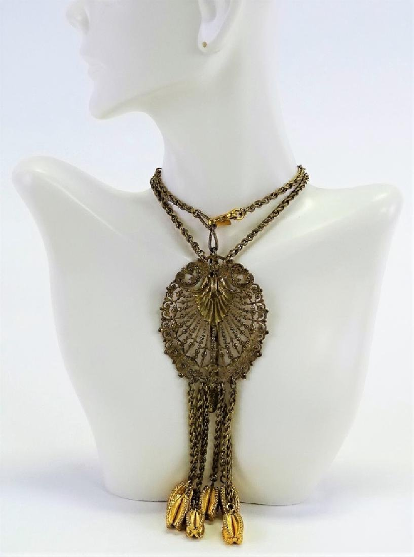 MIRIAM HASKELL GOLD TONE NECKLACE