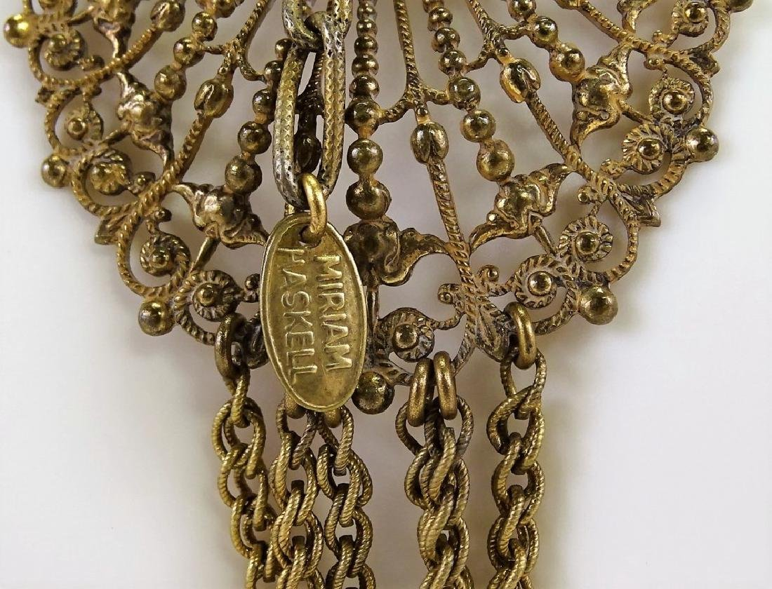 MIRIAM HASKELL GOLD TONE NECKLACE - 2