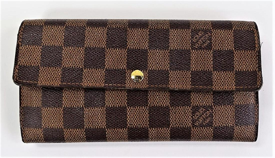 LOUIS VUITTON DAMIER EBENE CANVAS LADIES WALLET