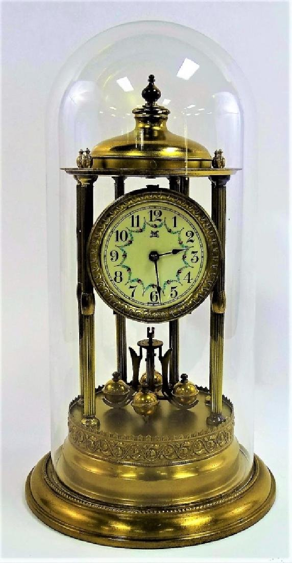SOKOL & MONTAG & CO. BRASS ANNIVERSARY DOME CLOCK