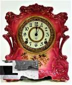 ANSONIA ROYAL BONN CHINA MANTEL CLOCK