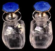 TIFFANY GUILLOCHE STERLING  CRYSTAL COLOGNES