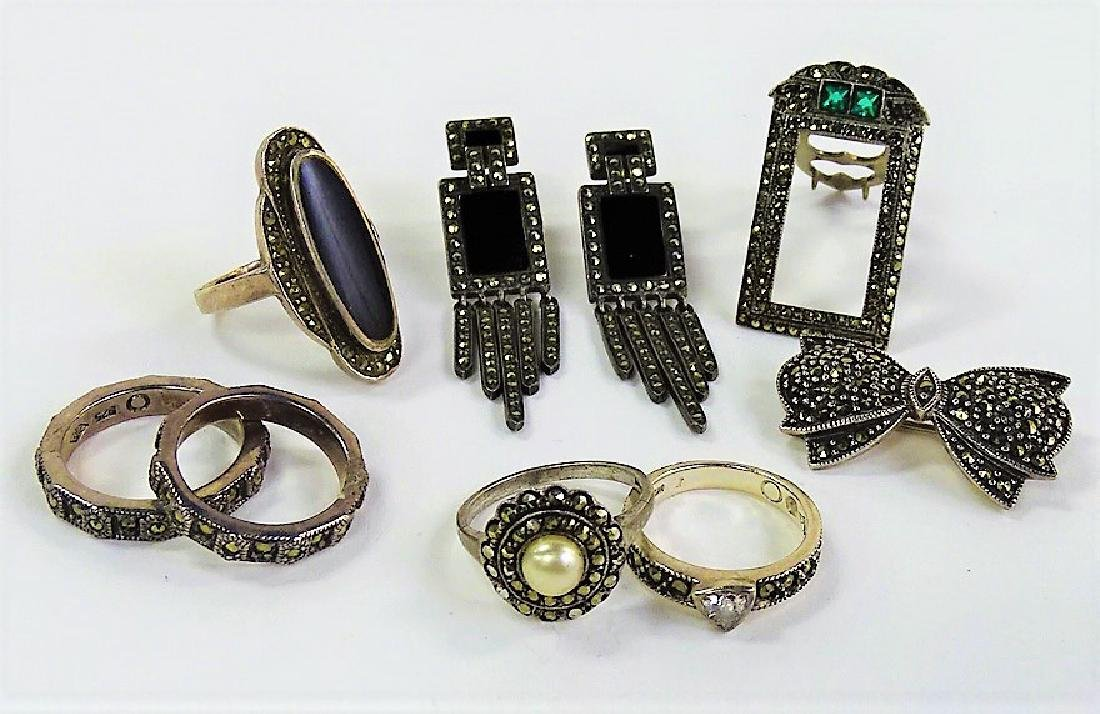 LARGE LOT OF COSTUME JEWELRY (MARCASITE)