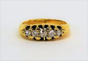 VICTORIAN 14KT Y GOLD AND DIAMOND RING