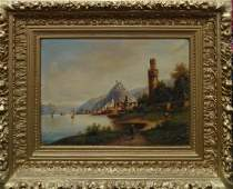 ARNOLD FORSTMAN GERMAN 1842-1914 RHINE MICE TOWER