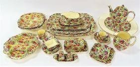 VINTAGE 23 PC ROYAL WINTON SUMMERTIME CHINTZ CHINA