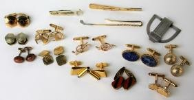 VINTAGE LOT OF COSTUME CUFF LINKS INC SWANK