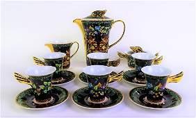 "VERSACE GOLD IVY BY ROSENTHAL ""MEDUSA"" TEA SET"