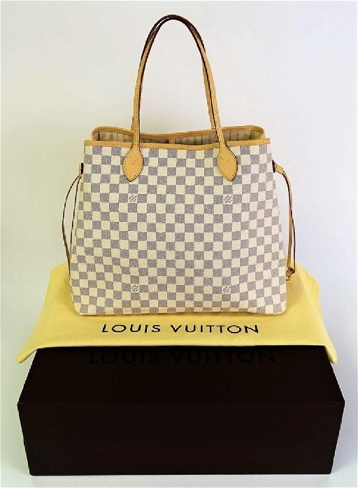 4f6cfda79 LOUIS VUITTON NEVERFULL GM DAMIER - AZUR - May 21, 2017 | Auction ...