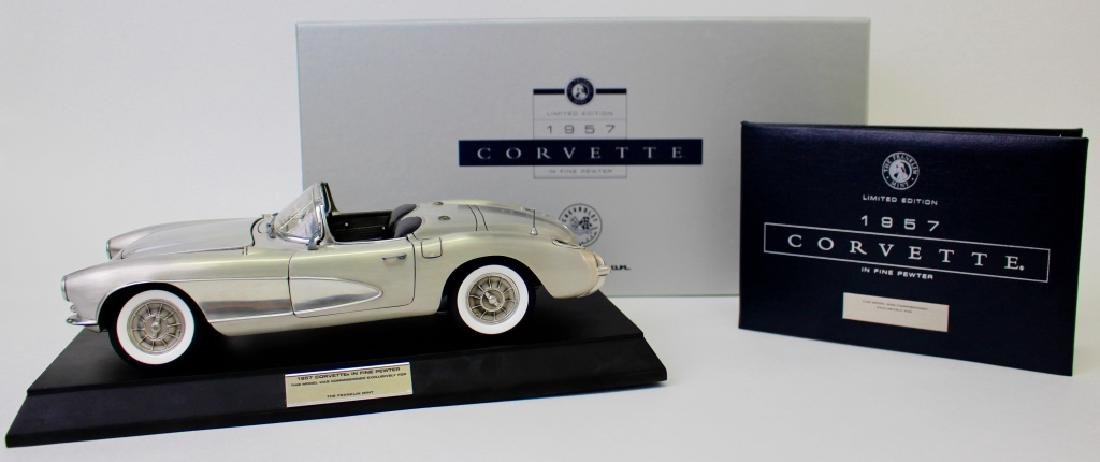 LIMITED EDITION PEWTER 1957 FUEL INJECTED CORVETTE