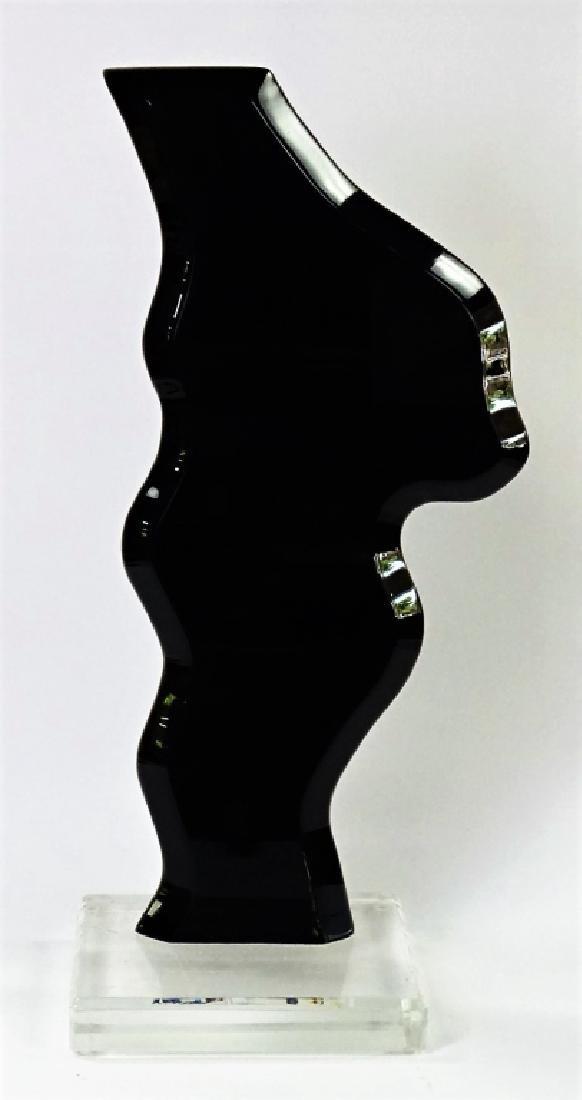 VAN TEAL LUCITE BLACK SCULPTURE LIMITED EDITION