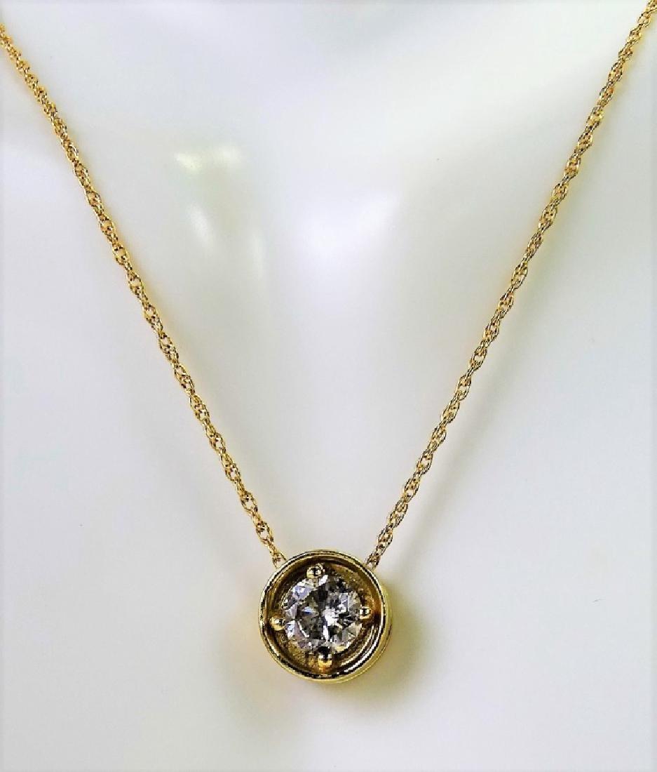 14K YELLOW GOLD .75 CTW DIAMOND NECKLACE