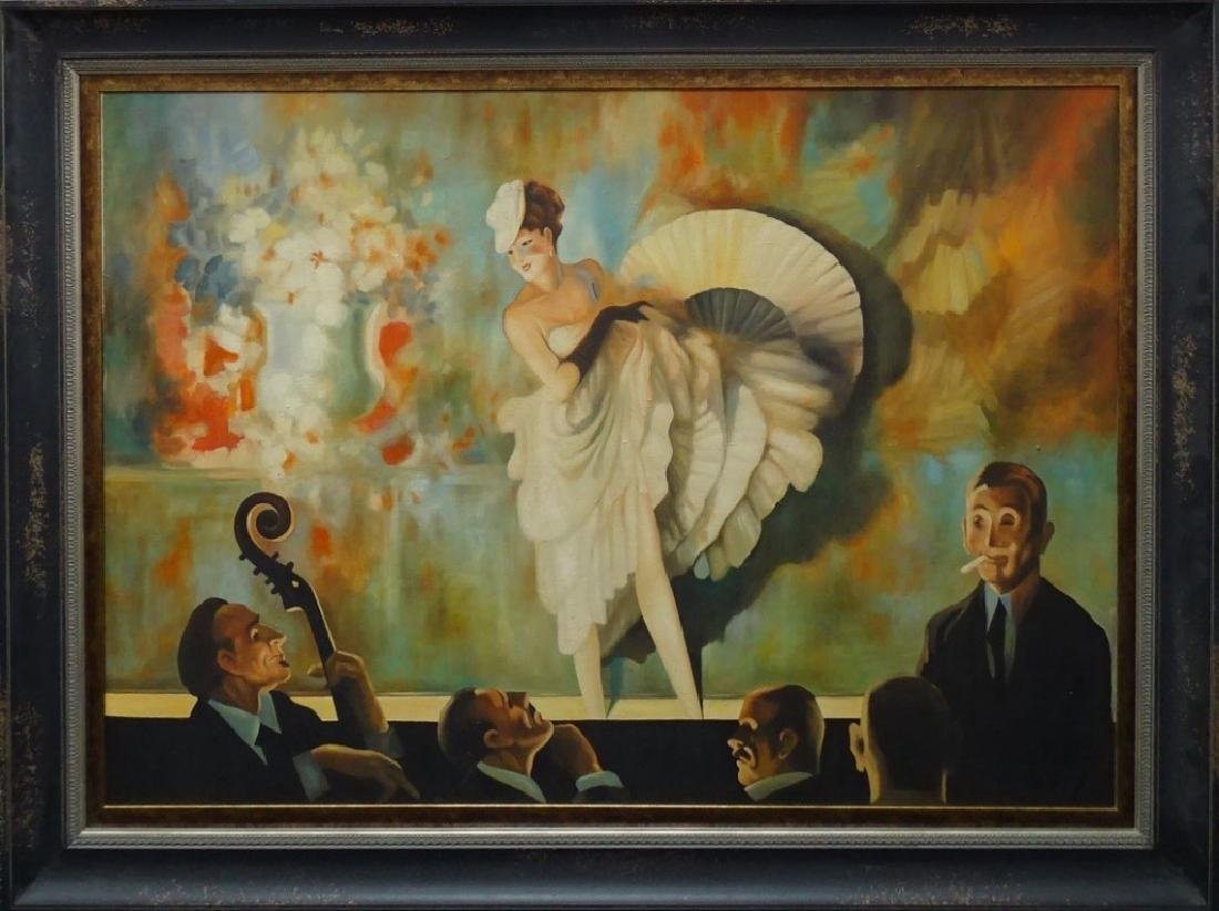 ATTRIBUTED TO EVERETT SHINN OIL PAINTING ON CANVAS