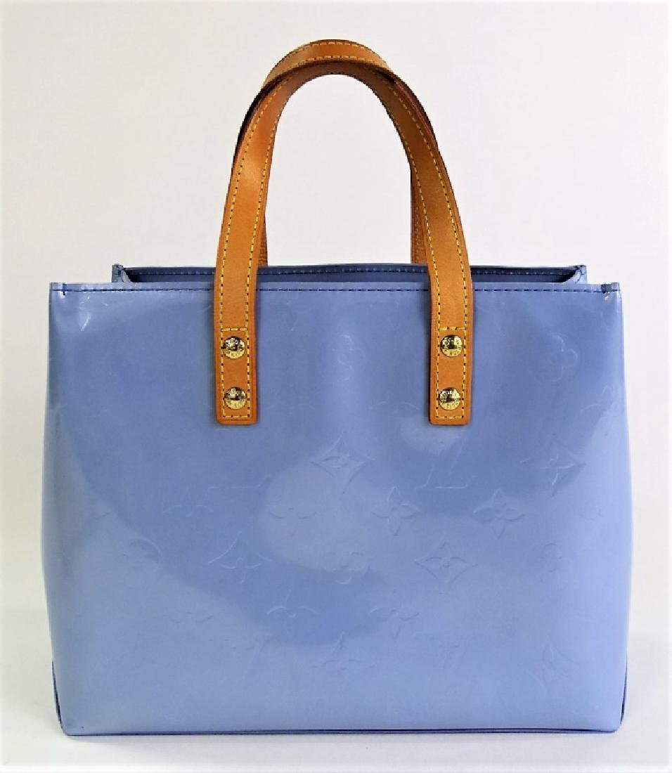 LOUIS VUITTON BABY BLUE MINI VERNIS BRENTWOOD TOTE