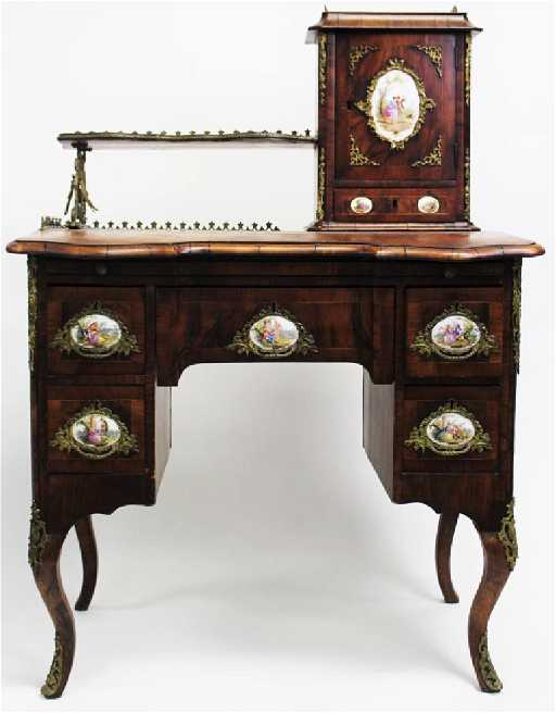- ANTIQUE 19TH C. FRENCH LOUIS XV STYLE WRITING DESK