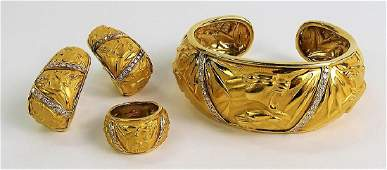 CARRERA Y CARRERA 18K GOLD & DIAMOND JEWELRY SUITE