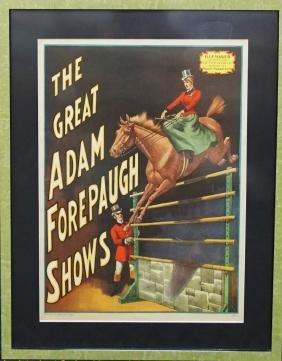 Adam Forepaugh Circus Show Poster 1960