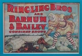 Original Ringling Brothers Circus Poster