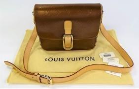 Louis Vuitton Vernis Leather Bronze Christie Gm
