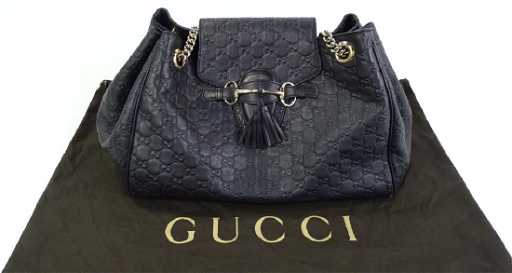 175697ae1b3 GUCCI GUCCISSIMA LARGE EMILY CHAIN SHOULDER BAG