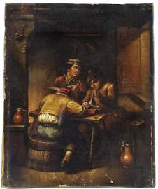 DAVID TENIERS I (1582-1649) OIL PAINTING ON CANVAS