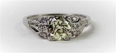 18KT WHITE GOLD & 1.06CT DIAMOND ENGAGEMENT RING