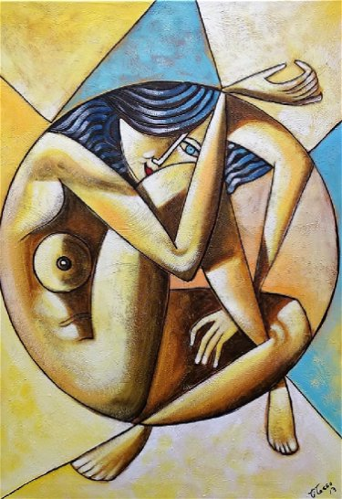 CUBAN CUBISM MODERN OIL PAINTING ARTIST: TASSO