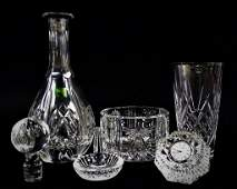 5 PIECE LOT OF WATERFORD CRYSTAL OBJECTS DART