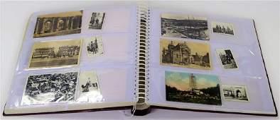 ALBUM OF WORLD WAR I ERA PHOTOGRAPHS & POSTCARDS