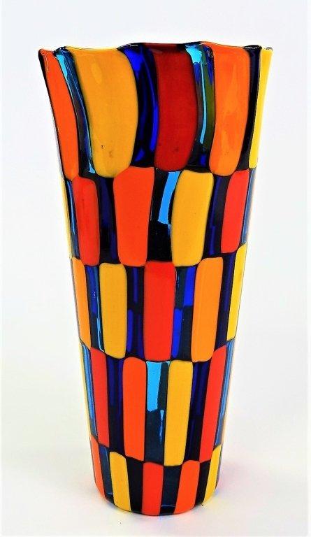MID CENTURY CARLO MORETTI MURANO ART GLASS VASE