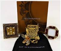 LOT OF 3 JAY STRONGWATER JEWELED PICTURE FRAMES