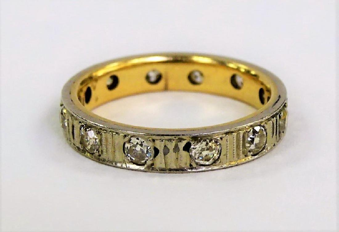 ESTATE 14KT YELLOW GOLD & 1CT DIAMOND BAND RING