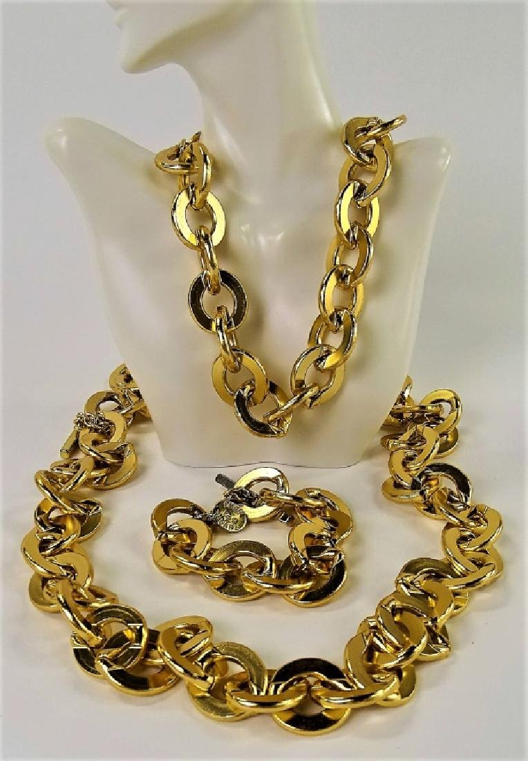 3PC ERWIN PEARL GOLDTONE JEWELRY & ACCESSORY SUITE