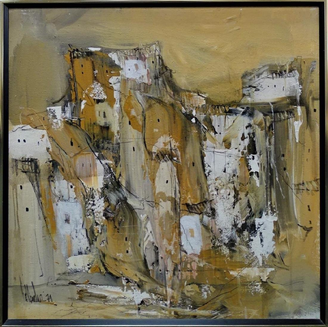 GINO HOLLANDER ORIGINAL ABSTRACT OIL PAINTING