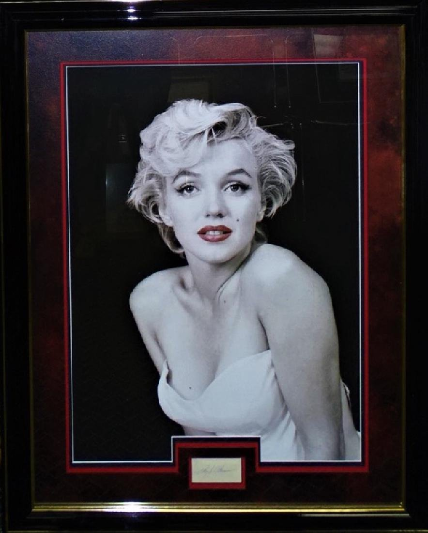 AUTHENTIC FRAMED MARILYN MONROE SIGNATURE DISPLAY