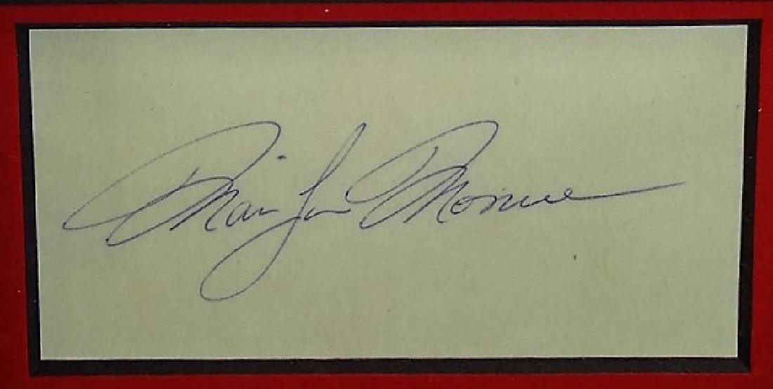 AUTHENTIC FRAMED MARILYN MONROE SIGNATURE DISPLAY - 2